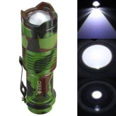 Jual Beli Online 2000 Lumen Zoomable Cree Q5 Led 3 Mode Lampu Senter Lampu Zoom Obor Lampu Outdoor Hitam