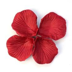 200 Pcs Warna Merah Bunga Sutra Kelopak Mawar Pernikahan Dekorasi Pesta-Intl