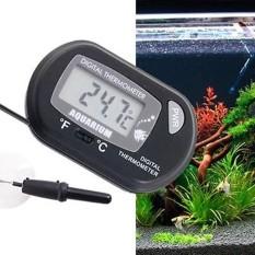 2015 Digital LCD Ikan Akuarium Terrarium Reptil Laut Vivarium Termometer dengan Pengisap Cangkir Hitam-Internasional