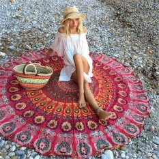 2016 Baru Bunga Mandala Wall Hanging Kain Handuk Pantai Selimut Piknik Selendang Panas-Internasional
