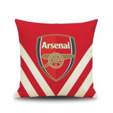 Harga 2017 Arsenal Cotton Line Sofa Kursi Bantal Sarung Bantal Internasional Paling Murah