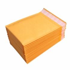 Harga 20 50 100Pcs 18X23Cm Kraft Bubble Mailers Padded Paper Envelopes Wholesale Free Ship Intl Yang Bagus