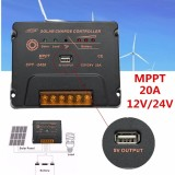 Harga 20A 12V 24V Lcd Mppt Solar Panel Regulator Battery Charge Controller Intelligent Intl Murah