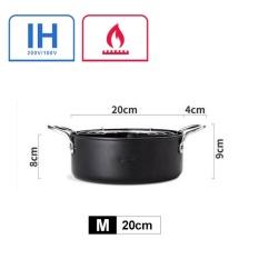 20 Cm Wajan Penggorengan Kreatif Jepang Tempura Fryer Rumah Tangga Penggorengan Pot Umum Digunakan untuk Induksi Kompor Gas Dan- INTL