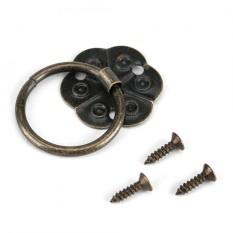 20 Pcs Furnitur Besi Pegangan Laci Meja Desk Door Ring Pull Hardware Home Decor 2x2 Cm-Intl