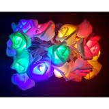 Beli 20Pcs Led Rose String Lights Rose Flower Fairy For Wedding Garden Party Christmas Decoration Kombinasi Cicil