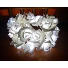 20Pcs Led Rose String Lights Rose Flower Fairy For Wedding Garden Party Christmas Decoration Putih Asli