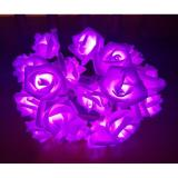 Beli 20Pcs Led Rose String Lights Rose Flower Fairy For Wedding Garden Party Christmas Decoration Ungu