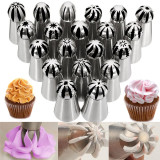 Pusat Jual Beli 20 Buah Bola Stainless Steel Pipa Nozzle Kue Kue Mangkuk Gula Rusia Tips Indonesia