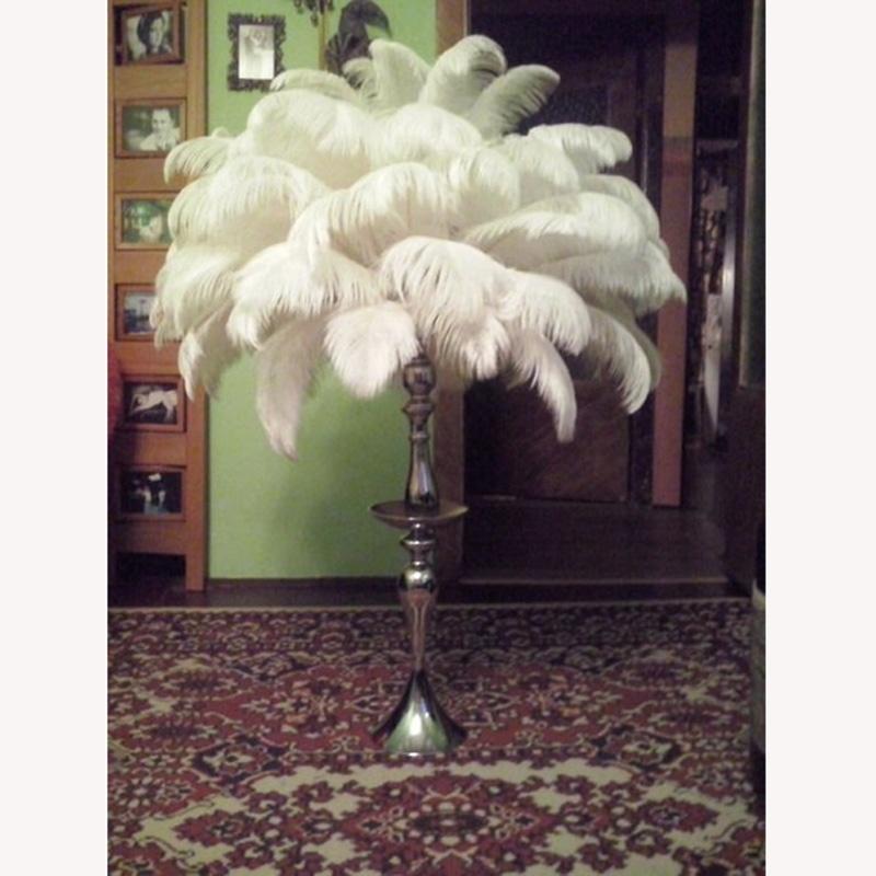 20pcs/lot Alami Batang Keras Bulu Burung Unta 30-35cm Pernikahan Ulang Tahun Natal