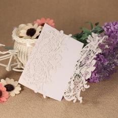 20 Pcs/set Pernikahan Kartu Undangan Set Mutiara Potongan Laser Kertas Hollow Bunga Pola Kartu