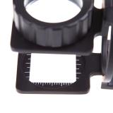 Spesifikasi 20X Lipat Magnifier Stand Mengukur Skala Pembesar Kaca Pembesar Portable Intl Murah Berkualitas