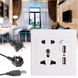 Dimana Beli 2 1A Dual Usb Charger Stopkontak Ac Dc Power Adapter Plug Outlet Panel W Switch Intl Oem