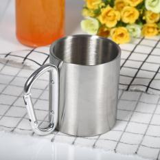 Promo 220 Ml Stainless Steel Portable Mug Outdoor Olahraga Air Cangkir Dengan Pegangan Internasional Akhir Tahun