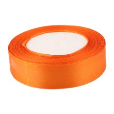 Toko 22M 1 25Mm Pita Dekorasi Kerajinan Pesta Pernikahan Satin Diy Sabuk Rambut � � Orange Not Specified