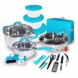 Jual Beli Online 23 Pcs Travel Cookware Ox 992