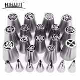 Jual Beli 23Pcs Set Stainless Steel Russian Large Size And Korean Style Pastry Decorating Tips Intl Baru Tiongkok