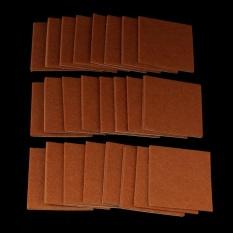 24 Pcs Oak Kayu Vinyl Tile Laminate Floor Furniture Protector Felt Pads Kursi-Intl