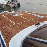 Diskon 240 Cm X 90 Cm X 5Mm Emas With Garis Hitam Marine Ubin Lantai Kayu Faux Jati Eva Foam Boat Decking Lembar Akhir Tahun
