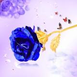 Harga 24 Kb Berlapis Emas Mawar Mencelupkan Kertas Perak Bunga Valentine S Day Hadiah Ulang Tahun Emas Biru Termahal