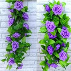 Rp 50.659 2.4 M Buatan Mawar Bunga Palsu Dedaunan Merambat Ivy Daun Tanaman  Hiasan Dekorasi Pernikahan 9d8c159daa