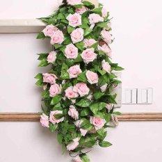 Harga Bunga Mawar Dan Dedaunan Rambat Palsu Panjang 2 4 M Untuk Dekorasi Pernikahan Paling Murah