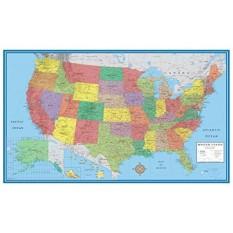 24X36 Amerika Serikat, Amerika Serikat Klasik Elite Peta Dinding Mural Poster (Dilaminasi)-Internasional
