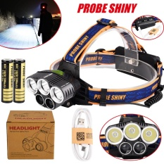 Harga 25000Lm 5X Xm L T6 Headlamp Headlight Head Light Led Rechargeable Usb Battery Intl Branded