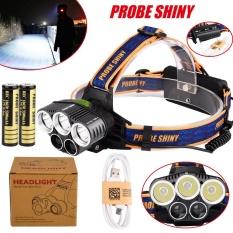 Promo 25000Lm 5X Xm L T6 Headlamp Headlight Head Light Led Rechargeable Usb Battery Intl Di Tiongkok