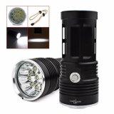 Harga 25000Lm Skyray 10 X Cree Xm L T6 Led Senter Obor 4X18650 Lampu Hitam Terbaru