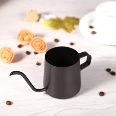 250ml/350ml Black Stainless Steel Pour Coffee Drip Pot Kettle With Long Over Gooseneck Spout - intl