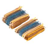 Ulasan Mengenai 2600 Buah 25 Watt 130 Jenis Resistor Film Logam Resistansi Komponen Bermacam Macam Kit Set Internasional