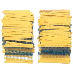 Promo 2600Pcs 130 Values 1 4W 25W 1 Metal Film Resistors Assorted Pack Kit Set Lot Intl Murah