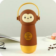 260 MLVacuum Termos DJ Headset Kartun Monyet Stainless Adonan untuk Anak Laki-laki & Perempuan-Intl
