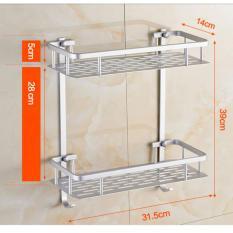 268 Rak Dinding Aluminium serbaguna 2susun size 31,5x14x16cm RAK TEMPAT ALAT RUMAH TANGGA ALAT DAPUR
