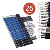 Jual Cepat 26 Pcs Profesional Menggambar Sketsa Pensil Kit Set Termasuk Pensil Gambar Grafit Pensil Arang Sticks Penghapus Sharpeners Untuk Perlengkapan Seni Siswa Intl
