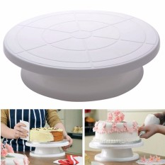 Promo 28 Cm Dapur Dekorasi Kue Es Krim Putar Meja Putar Layar Berdiri Plastik Akhir Tahun