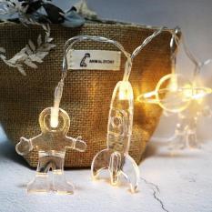 2 M Spaceman Model LED Waterproof String Lampu Dioperasikan Pencahayaan untuk Pesta Pernikahan Centerpiece Dekorasi Natal Ukuran: 2 M 20 * LED Dioperasikan