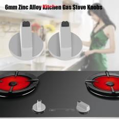 2 Pcs 6 Mm Zinc Paduan Rumah Dapur Kompor Gas Kenop Cooker Oven Cooktop Logam Sakelar Pengendali-Internasional