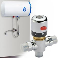 2 Pcs Kuningan Katup Pencampuran Termostatik Pemanas Air Matahari Valve For Bidet Shower Faucet-Intl