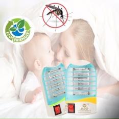 2 Pcs Electric Anti Nyamuk LED Lampu Malam Pembunuh Zapper Terbang Bug Serangga Steker AS-Internasional