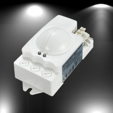 2 Buah Microwave Radar Smart Sensor Gerak Saklar Lampu Langit-langit Relung Dinding 360° 500 Watt
