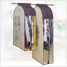 Beli 2 Pcs Non Woven Dust Bag Korea Tiga Dimensi Penebalan Clothes Dust Coat Suit Pakaian Transparan Debu Cover Grosir Cicilan