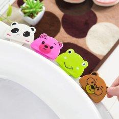 2 Pcs Portabel Nyaman untuk Toilet Lid Perangkat Disinggung Toilet Set Cincin Toilet Handle Home Produk Kamar Mandi Set- INTL