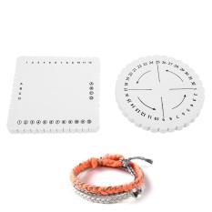 Harga 2 Pcs Round Square Kumihimo Disc Macrame Dikepang Tali String Gelang Handmade Tenun Disk Origin