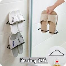 2 Pcs Dinding Segitiga Sepatu Rak Sepatu Sederhana Braket Sepatu Besi Penyelenggara Dinding-Mounted Penyimpanan Sepatu Rak-Internasional