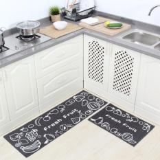 2 Pcs Set Anti Slip Dapur Karpet Lantai Tikar R Mandi