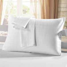 2pcs/set Cotton Pillow Case White Check Pattern Pillow Slip Well-made Soft Pillowcases Plaid Pattern