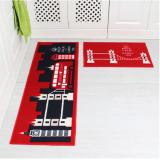 Toko Jual 2 Buah Set Retro Eropa Desain Bangunan Anti Slip Tikar Penyerap Karpet Ruang Tamu Dapur Meja Teh Karpet 40 Cm X 60 Cm And 40 Cm X 120 Cm