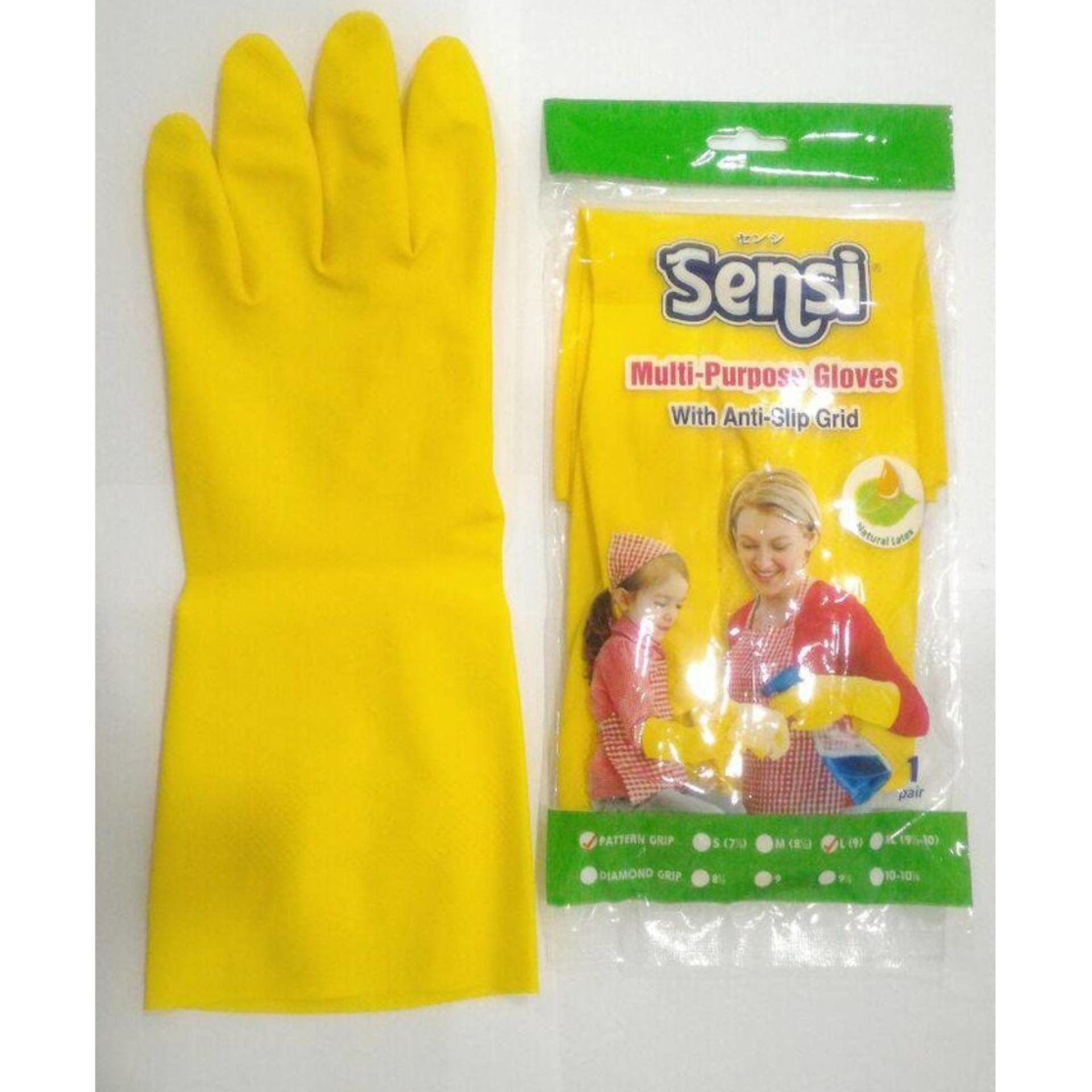 2psg - Sarung tangan karet glove kuning sensi latex cuci piring kualitas. YOUNG YOUNG Sarung
